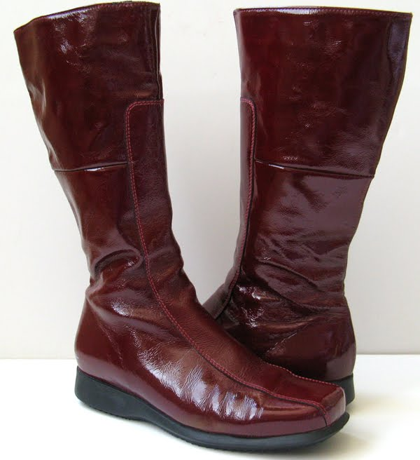 La Canadienne Red Leather Boots Blanche Boots Womens Size 9 5