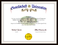 Doctorate in UnKnown Beliefs from Gesellschaft University