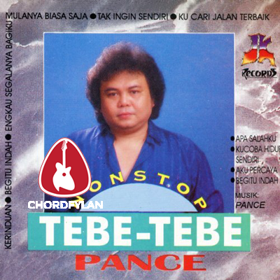 Lirik dan Chord Kunci Gitar Kerinduan - Pance Pondaag