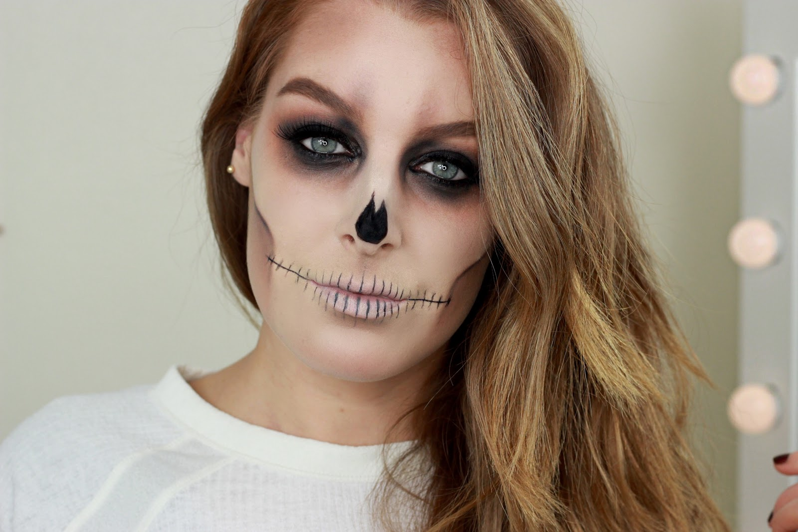 Skull Makeup Tutorial | Halloween Makeup | Zoe Mountford