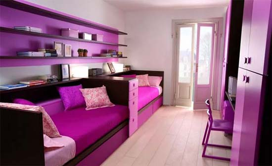 Trend homes cool purple girl bedrooms design - Things for girls room ...