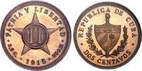 2 cents - Cuba - 1915