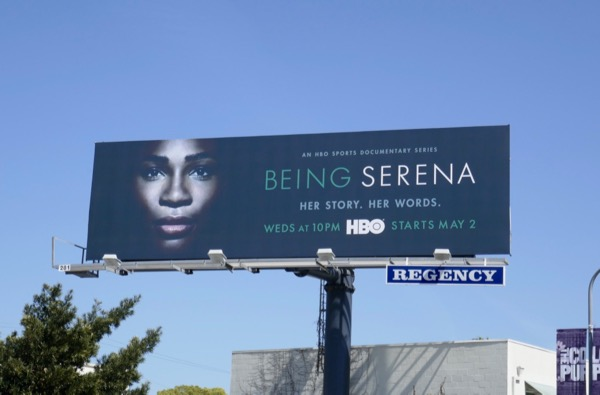 Being Serena HBO series billboard