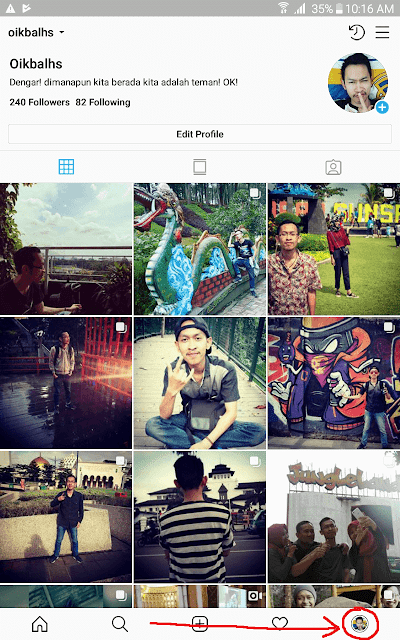 Page/Halaman Profile Instagram.