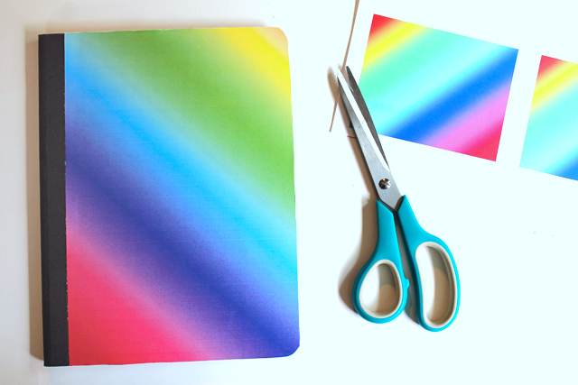 Make your own Lisa Frank inspired notebooks and school supplies!