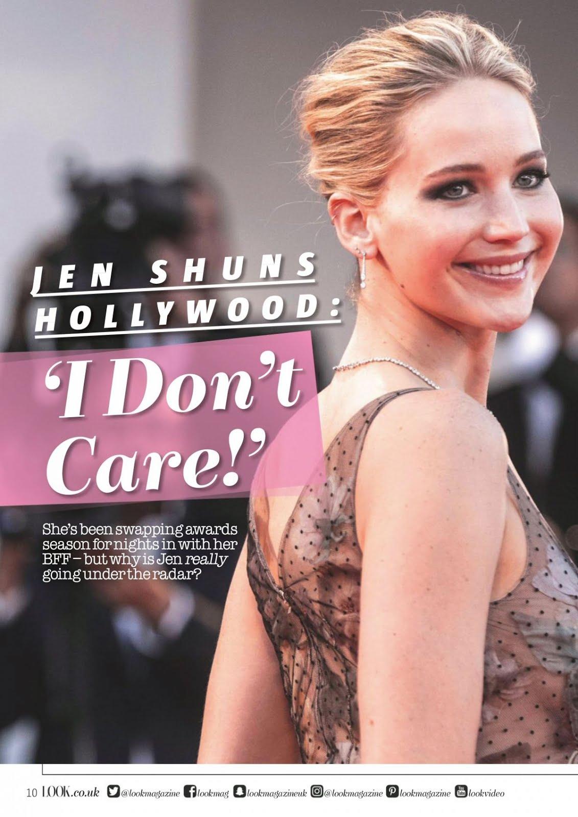 Jennifer Lawrence for Look Magazine UK January 2018