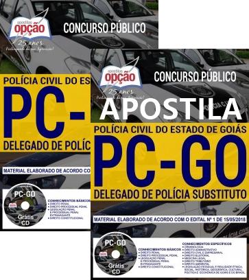 apostila da delegado de Polícia Substituto da Polícia Civil GO 2018