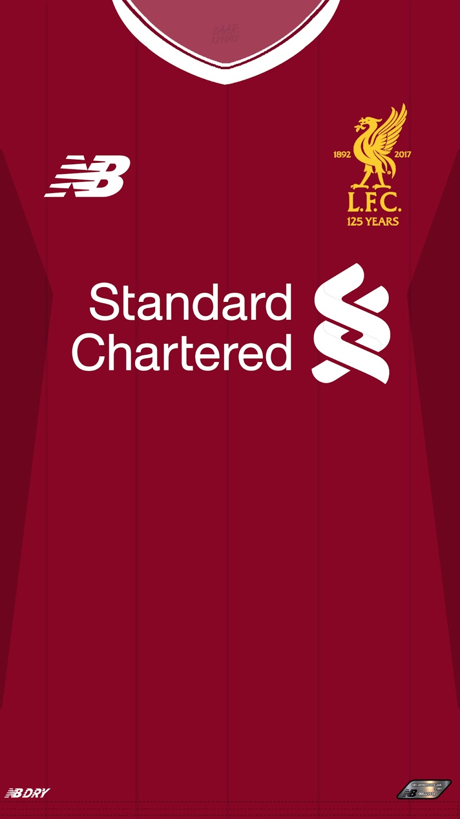 Wallpaper Jersey Liverpool 2017-2018 Premiere League ~ LAAR121097