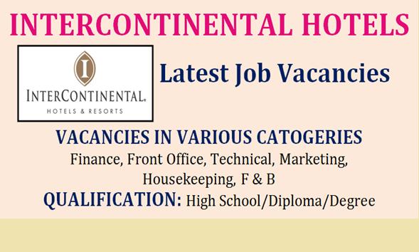 Intercontinental Hotels Jobs  2019 (1180 job)