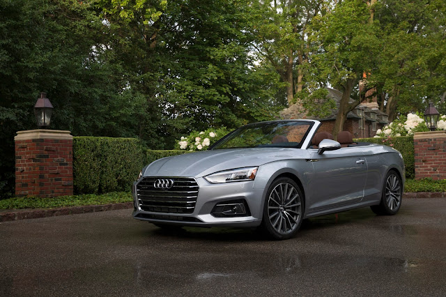 Front 3/4 view of 2018 Audi A5 Cabriolet