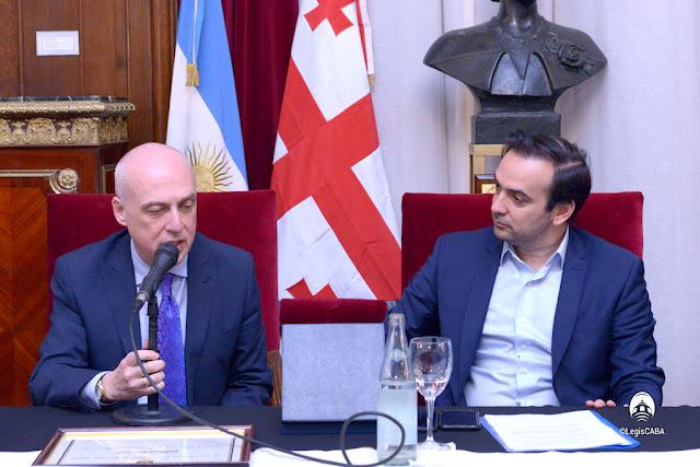 David Zalkaliani, ministro de Relaciones Exteriores de Georgia, fue distinguido como Huésped de Honor por la Legislatura Porteña