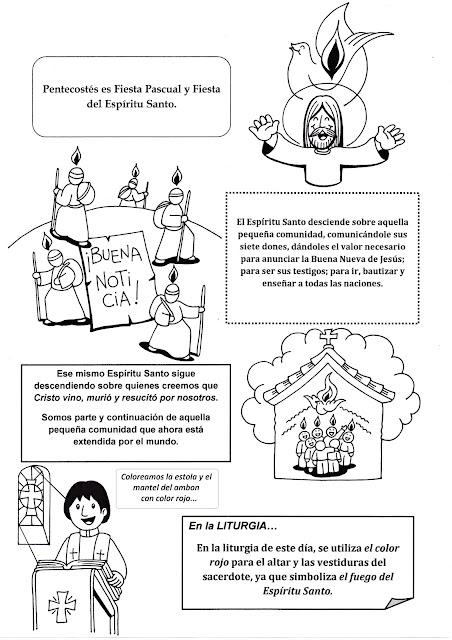 Parroquia La Inmaculada: Recursos Pentecostés 2: Fichas para niños