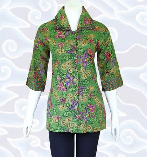 Model Baju Batik Kerja Atasan Muslim: 10 Model Baju Batik Muslim Atasan Wanita Terbaru 2018