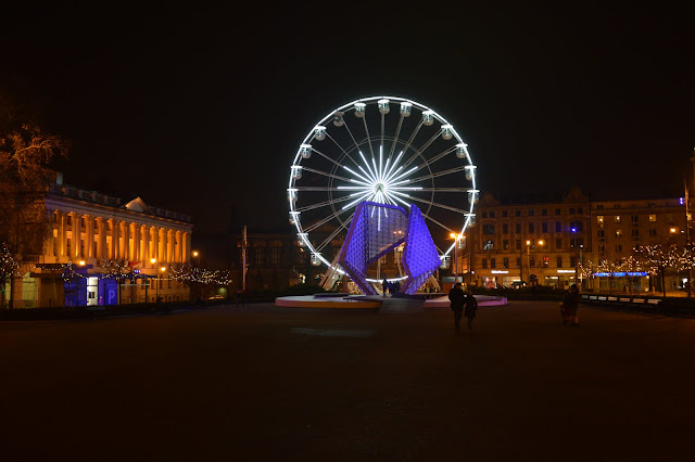 Imagen de la noria en Poznan