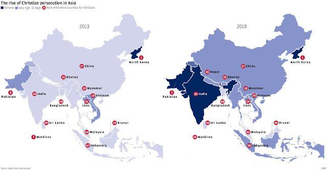 Ο Χριστιανισμός ευημερεί στην Ασία παρότι επιδεινώνονται οι εναντίον του διώξεις