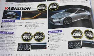 レクサス新型LC 価格情報