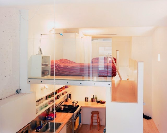 Exceptional Loft Bed Ideas Small Bedrooms Part - 11: Small Bedroom Decorating Ideas Loft Bed With Built In Closet