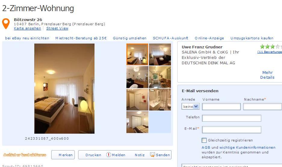 wohnungsbetrugsinformationen  informations about rental
