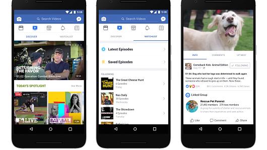 O Facebook Watch permitirá que os usuários descubram vídeos fora de seus próprios feeds com mais facilidade.