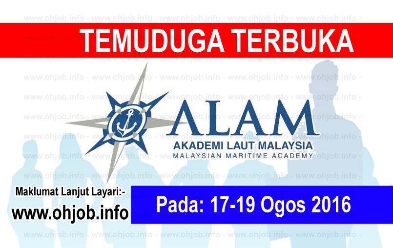 Jawatan Kerja Kosong Akademi Laut Malaysia (ALAM) logo www.ohjob.info ogos 2016