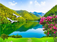 Keindahan Aliran Sungai Di Taman-Taman Surga