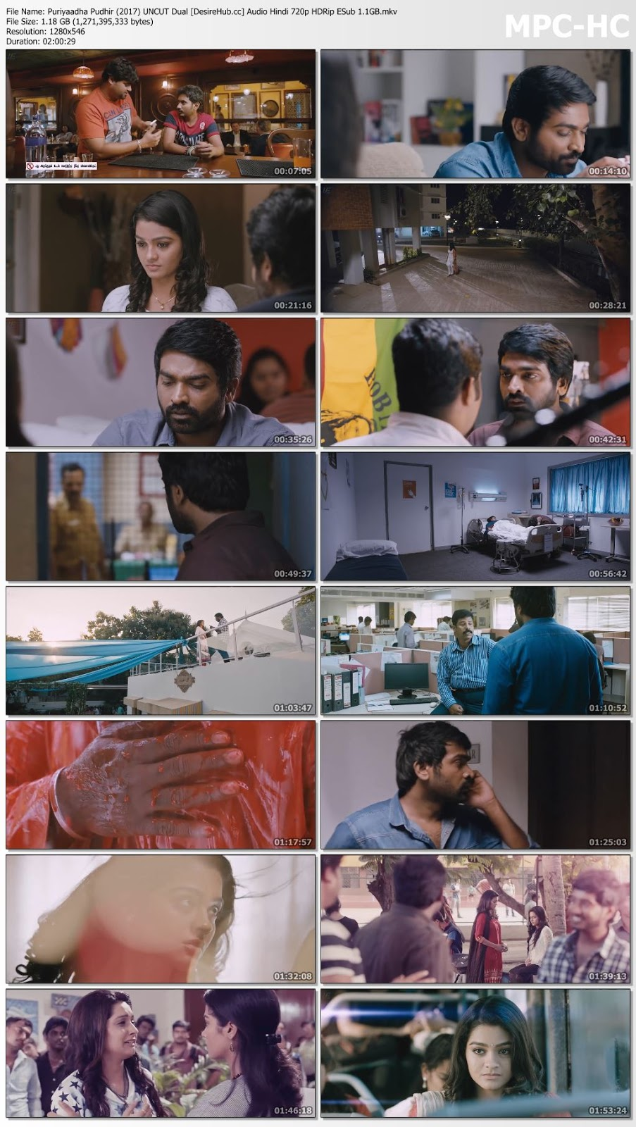 Puriyatha Puthir 2017 UNCUT Dual Audio Hindi 720p ESub 1.1GB Desirehub