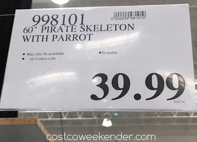 Costco 998101 - Deal for the Pose-n-Stay Pirate Skeleton with Parrot at Costco
