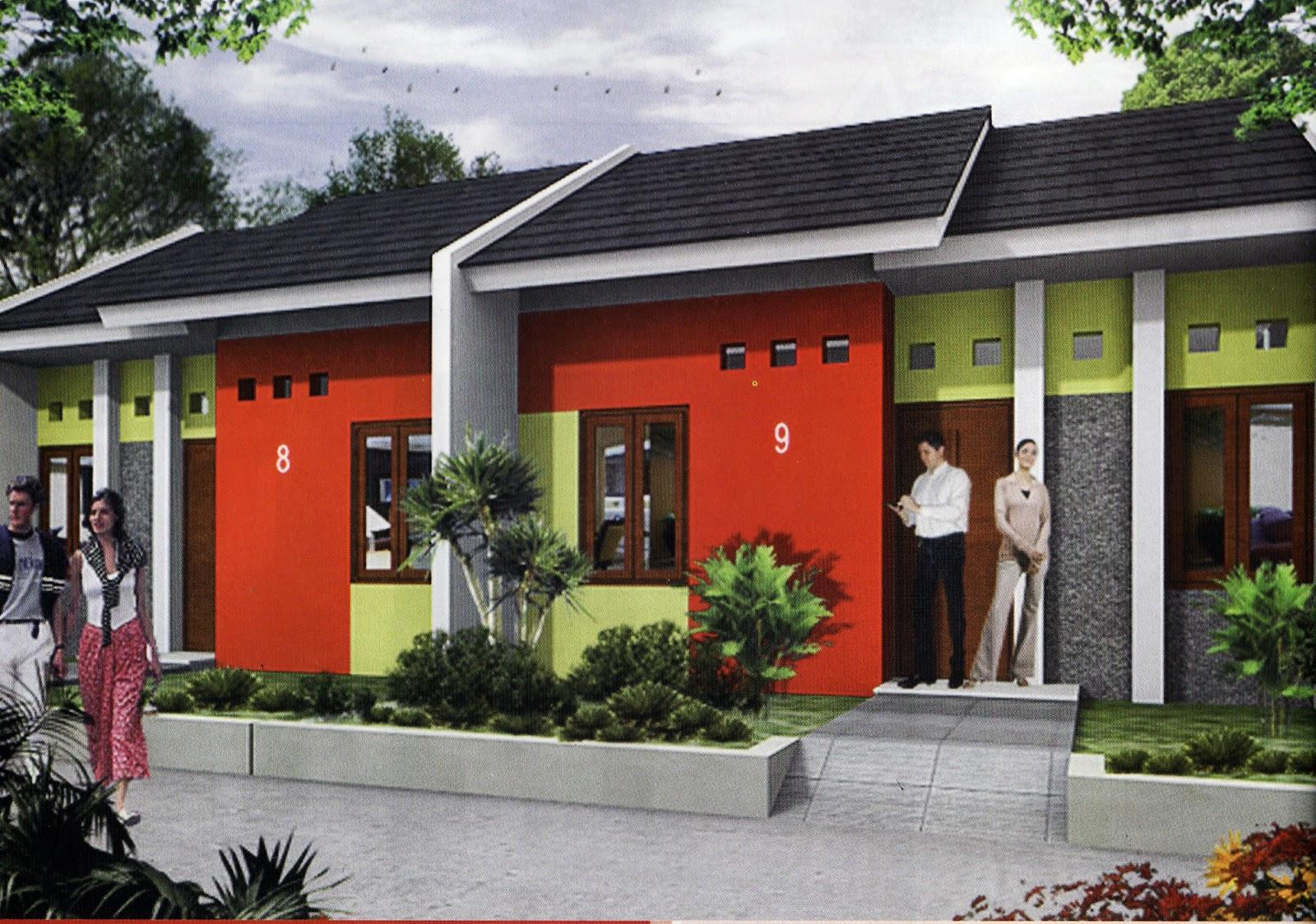 Kombinasi Cat Rumah Warna Merah Bata Denah Rumah