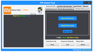 TPS Xiaomi Tool Google Account Removal Free Download