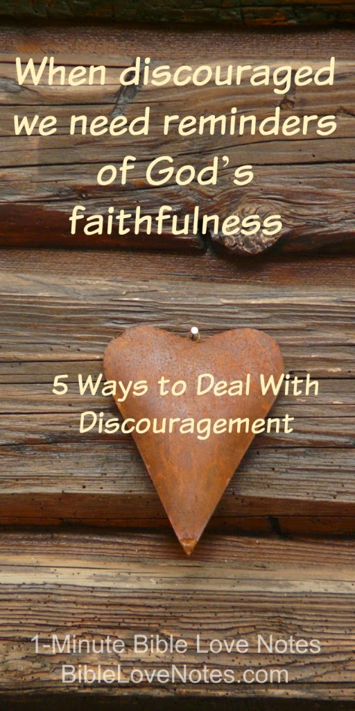 5 Ways to Deal With Discouragement, God comforts, Count your blessings