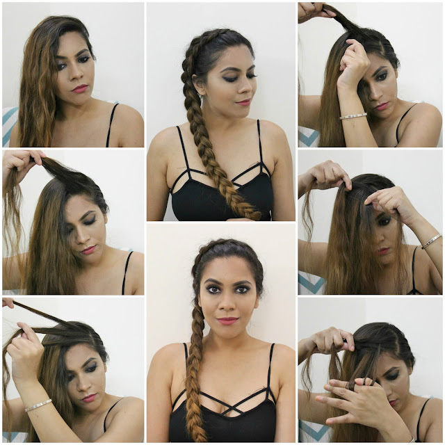 No Heat 5 Minute Hairstyle, Easy Side Dutch Braid, running late hair fix, 5 minute hairstyle, hairstyle for bad hair day, quick hair fix, boho hairstyle, back to school hairstyles, hairstyles, long hair hairstyles, how to do side braid, hairtrends 2016, how to dutch braid, quick and easy braid,beauty , fashion,beauty and fashion,beauty blog, fashion blog , indian beauty blog,indian fashion blog, beauty and fashion blog, indian beauty and fashion blog, indian bloggers, indian beauty bloggers, indian fashion bloggers,indian bloggers online, top 10 indian bloggers, top indian bloggers,top 10 fashion bloggers, indian bloggers on blogspot,home remedies, how to