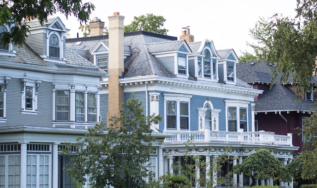 Mansions in Elmwood Village in Buffalo, New York