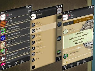 Tampilan BBM Mod Aksara