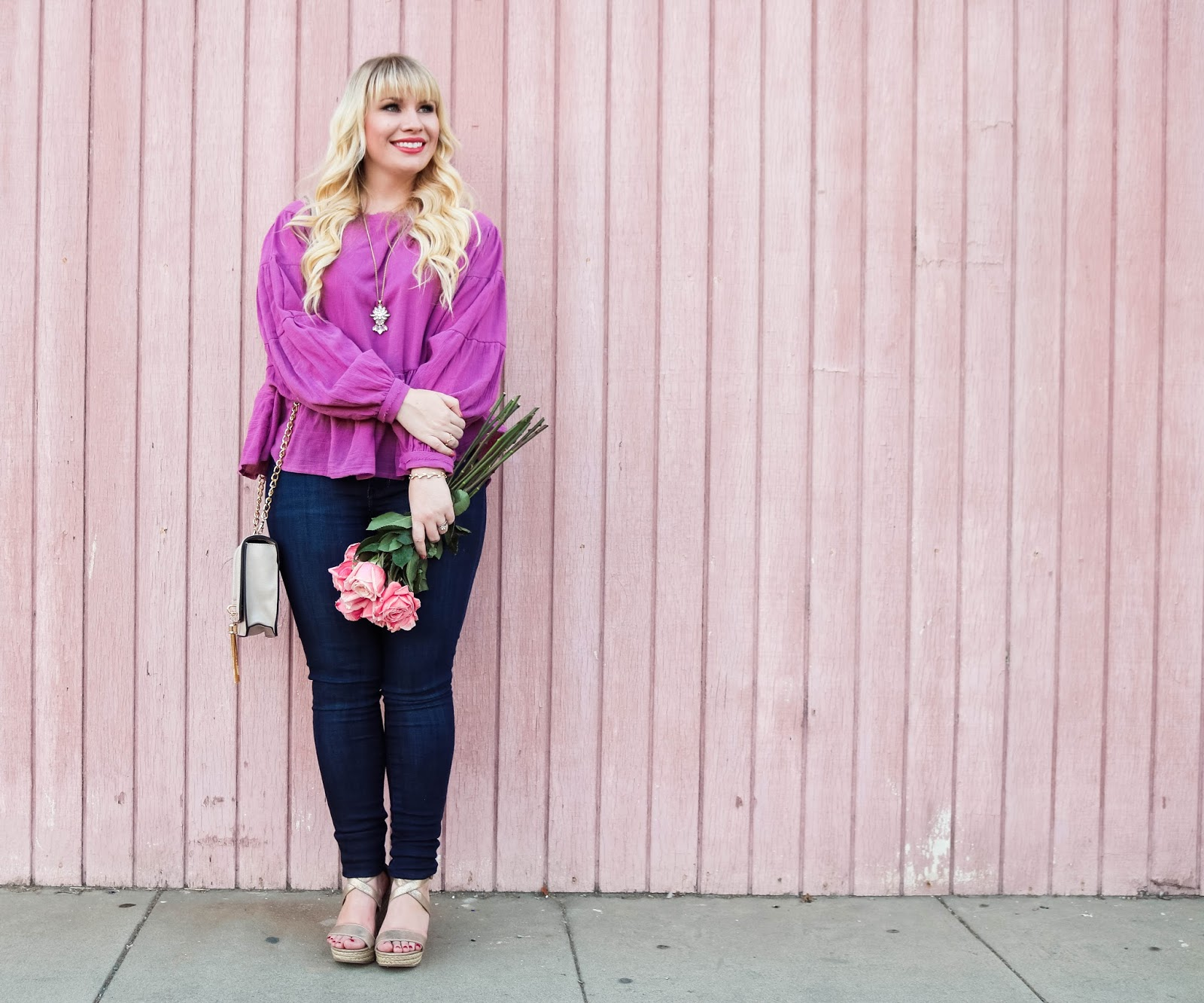 Purple Ruffled Top & Trip Recap