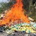 La PGR incinera narcóticos y destruye objetos del delito