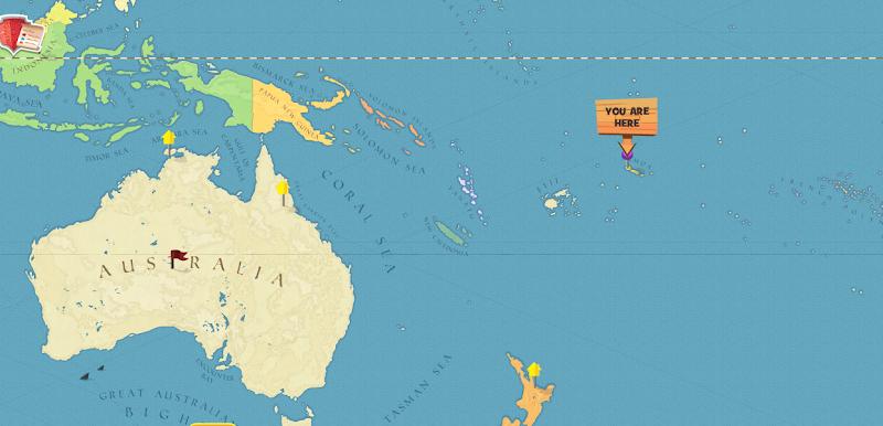 Leilani Jones Google – Samoa on World Map