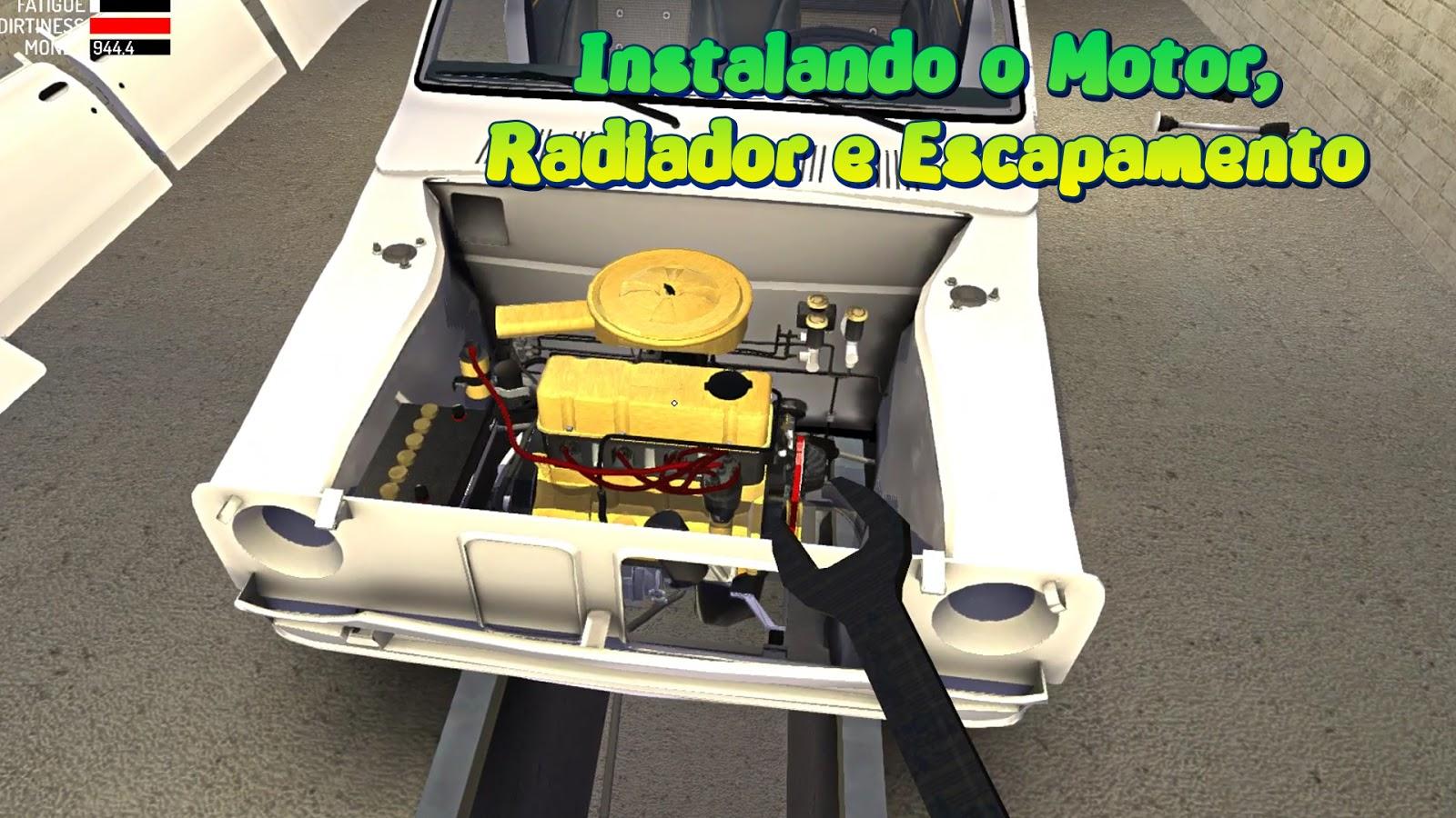 Tutorial Instalando O Motor Radiador E Escapamento My