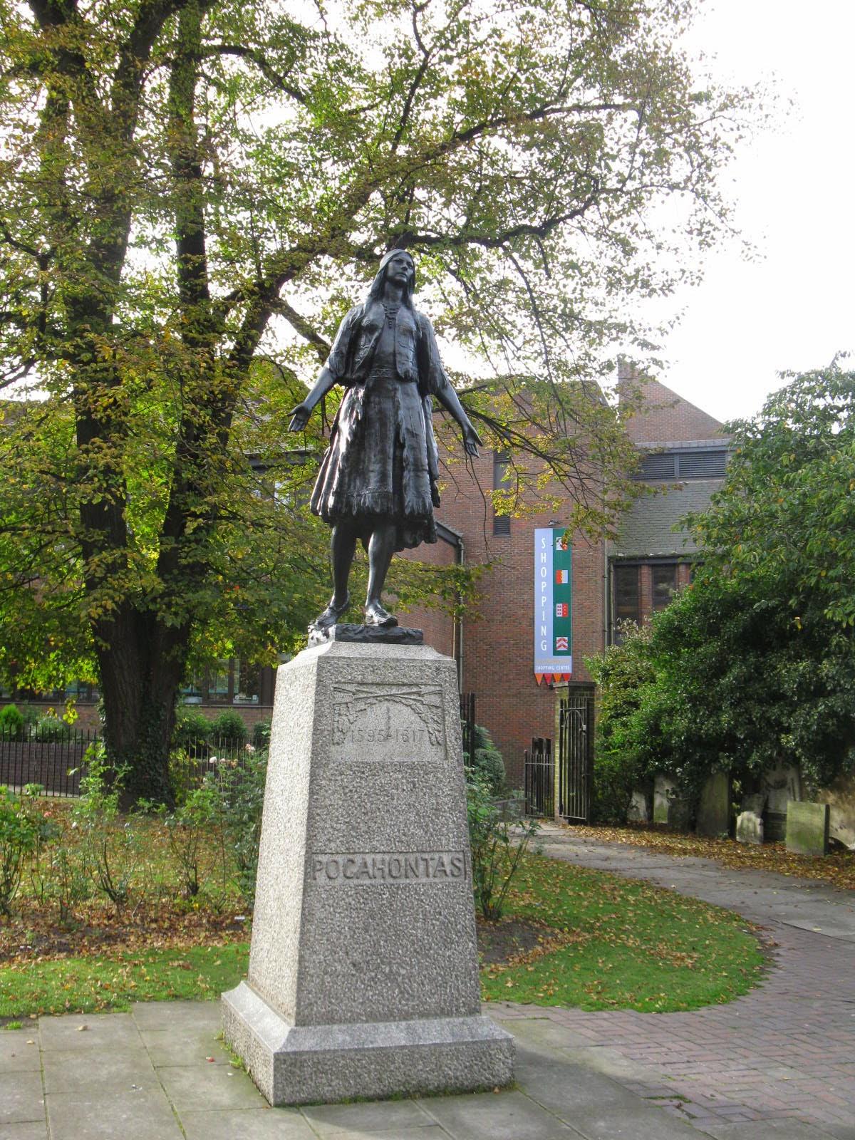 Pocahontas Monument, St. Georges Church, Gravesend, United Kingdom