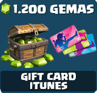 Comprar 1.200 Gemas Clash of Clans