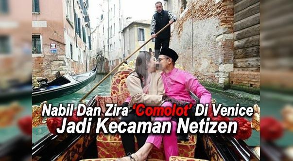 #HOT ~ Nabil Dan Zira 'Comolot' Di Venice Jadi Kecaman Netizen