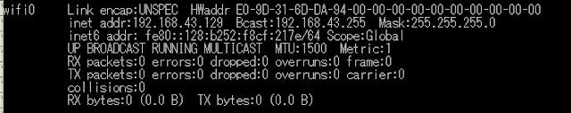 Ubuntu上のIPアドレス