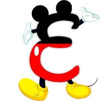 Original alfabeto inspirado en Mickey Mouse E.