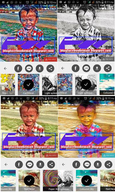 contoh gambar hasil aplikasi Prisma bikin foto full efek dan keren