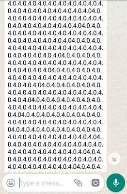Android WhatsApp text bomb