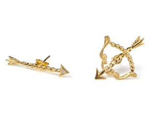 Zodiac Jewellery Sagittarius Earrings Jessica De Lotz