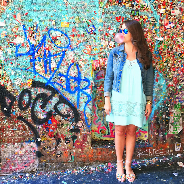Krista Robertson, Covering the Bases, Travel Blog, NYC Blog, Preppy Blog, Style, Fashion Blog, Style, NYC, Summer Fashion, Summer wear, Nautical, Preppy Style, What to wear for summer, Must Have Summer Items, Seattle Bubble Gum Wall