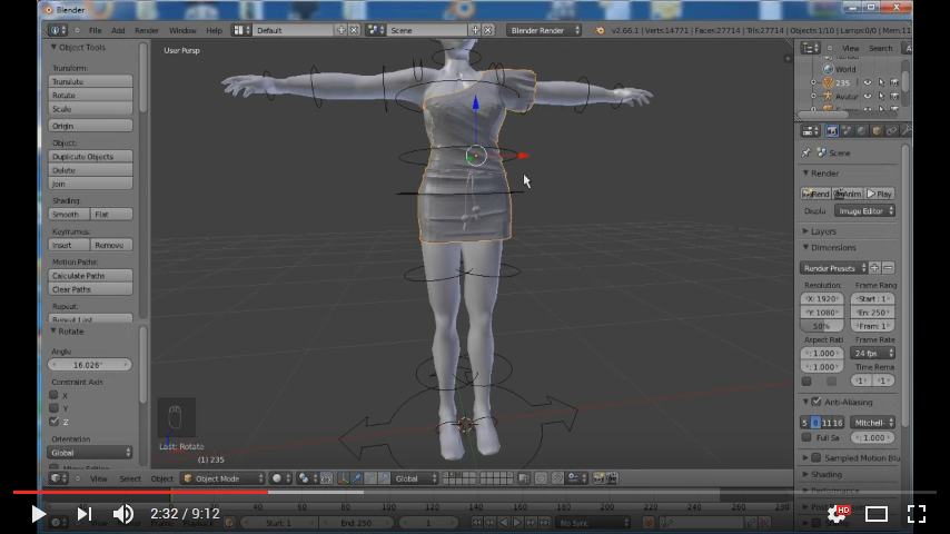 Using Avastar/Blender To Rig And Make Mesh Cloth Ready For