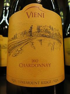 Vieni Chardonnay 2012 - VQA Vinemount Ridge, Niagara Peninsula, Ontario, Canada (88+ pts)