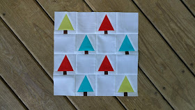 Tree Farm quilt block for Christmas QAL