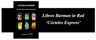 libros coctel barman in red